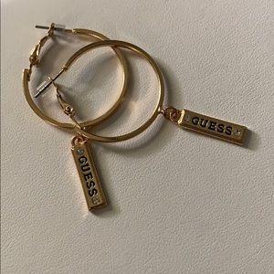 Gold Guess Hoop Earrings 🔥Reduced🔥